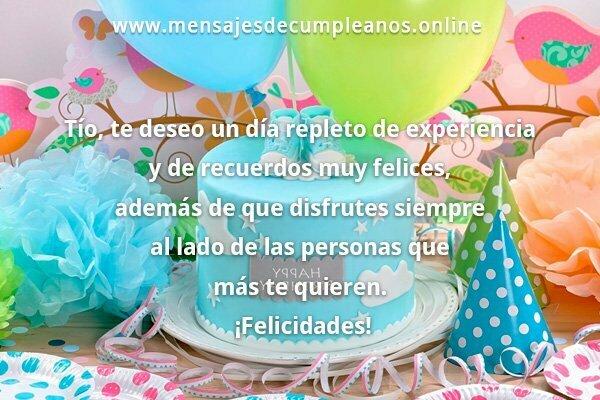 Mensajes Para Un Tío De Feliz Cumpleaños Frases