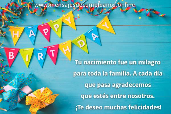 Más mensajes de cumpleaños para una persona o alguien especial