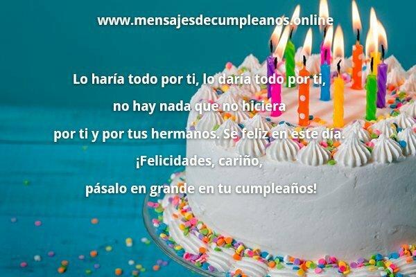 Palabras de feliz cumpleaños para un hijo